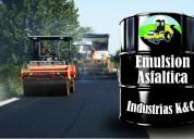 Venta de emulsion asfaltica rotura rapida especial