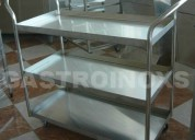 Fabricamos coche plataforma en acero inox
