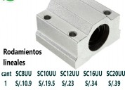 Rodamiento lineal sc8uu de 8mm para cnc impresoras
