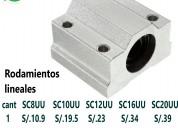 Rodamiento lineal sc10uu de 10mm para cnc impresor
