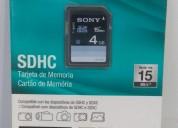 Sony sdhc 8gb - tarjeta de memoria