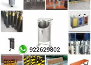 Fabricación de tachos metalicos en acero inoxidabl