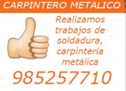 Maestro soldador carpintero metalico