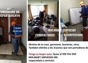 Fumigaciones de casas, servicio de fumigacion en