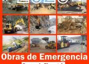 Obras de reconstrucción emergencia maquinaria peru