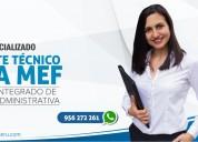 Curso especializado soporte tÉcnico siga mef 2020