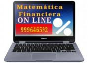 Online. matematica financiera. asesoría virtual