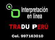 Perú interpretación virtual o física c., 997163010