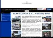 Peru taxi van transfers