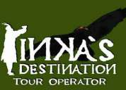 Inkas destination tour operator peru