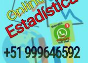 Estadística. solución y asesoría virtual. whatsapp