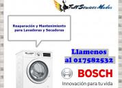Bosch lavadoras secadoras reparacion mantenimiento