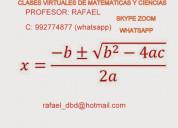 Clases virtuales de matematicas y ciencias