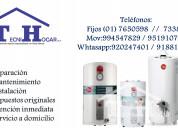 Servicio técnico  termotanques rheem ºa domicilio-