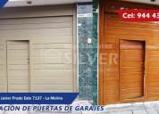 Puertas de garaje levadizas, seccionales