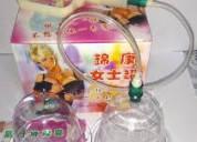 Copas de succión para tonificar busto y glúteos
