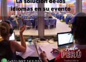 Cajamarca huaraz traducción  eventos 9971603010