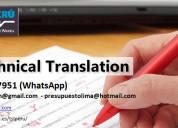 Traducción técnica profesional e interpretación