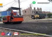 Servicio de carpeta asfaltica en lima