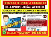 Tecnico pcs repetidores wifi laptops cableados