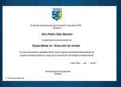 Diploma de especialidad en dirección de ventas