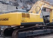 Vendo excavadora hyundai 360lc-7a 2012