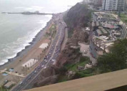 Dpto. alquiler miraflores vista al mar junto a lar