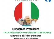 Se busca profesores de italiano