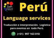 Cusco / puno traductor de idiomas cel. 997163010