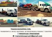 Transportes de carga pesada a nivel nacional lima