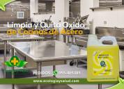 Limpiador ecologico de cocinas de acero