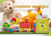 Desinfectante y limpiador ecológico de juguetes