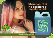 Shampoo ph7 ecologico sin sal, para cabello teñido