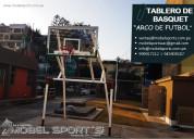 Tablero de basquet y arco de futbol -reparacion-ms