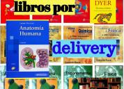 Venta de libros diversos: por delivery.