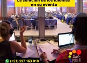Traductores  inglés para evento en lima /piura