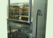 Cocinas ind-horno pollo brasa-vitrina refrigerada