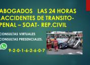 Abogados penalistas en lima-lunes a domingo 24 hor