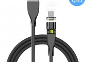 Cable magnÉtico 540° carga rapida datos tipo-c 2m