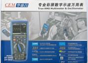 Cem dt-9989 multímetro true rms osciloscopio ip67