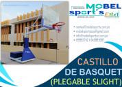Castillo de basquet plegable -slight-mobel sports