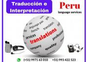 Traducción simultánea en lima y piura✅ 997163010