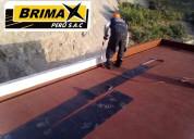 Membrana asfaltica - rollo de 10x1- brimax p.