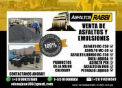 Venta de asfalto liquido rc-250 asfaltos