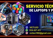 Servicio tÉcnico de laptops  y computadoras