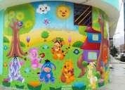 Murales infantiles para habitaciones de ninos