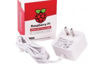 Cargador oficial blanco para raspberry pi 4 usb-c