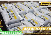 Mezcla asfaltica en frio - saco 25 y 50 kg.