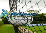 Mallas nylon para canchitas de futbol, golf, voley