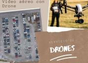 Realización de fotografía y vídeo aéreo con drone